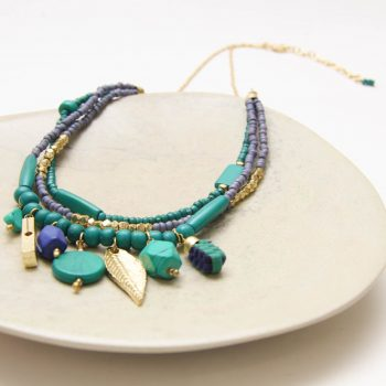 Blue and green bone bead necklace | Gallery 2 | TradeAid