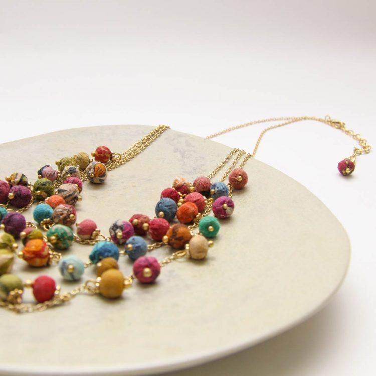 Multi strand fabric bead necklace | Gallery 1 | TradeAid