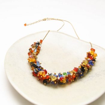 Multicolour glass bead necklace | Gallery 1 | TradeAid