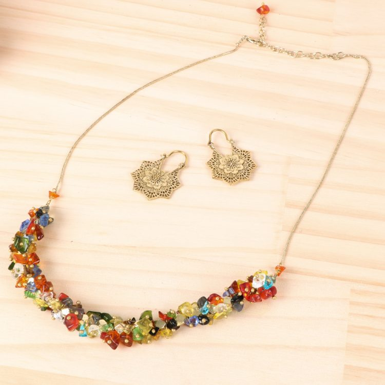 Multicolour glass bead necklace | TradeAid