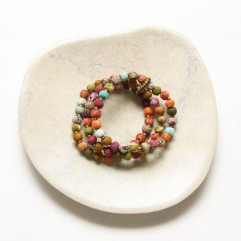 Three strand fabric bead bracelet | TradeAid