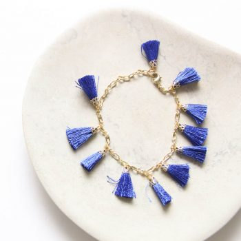 Blue tassel bracelet | TradeAid
