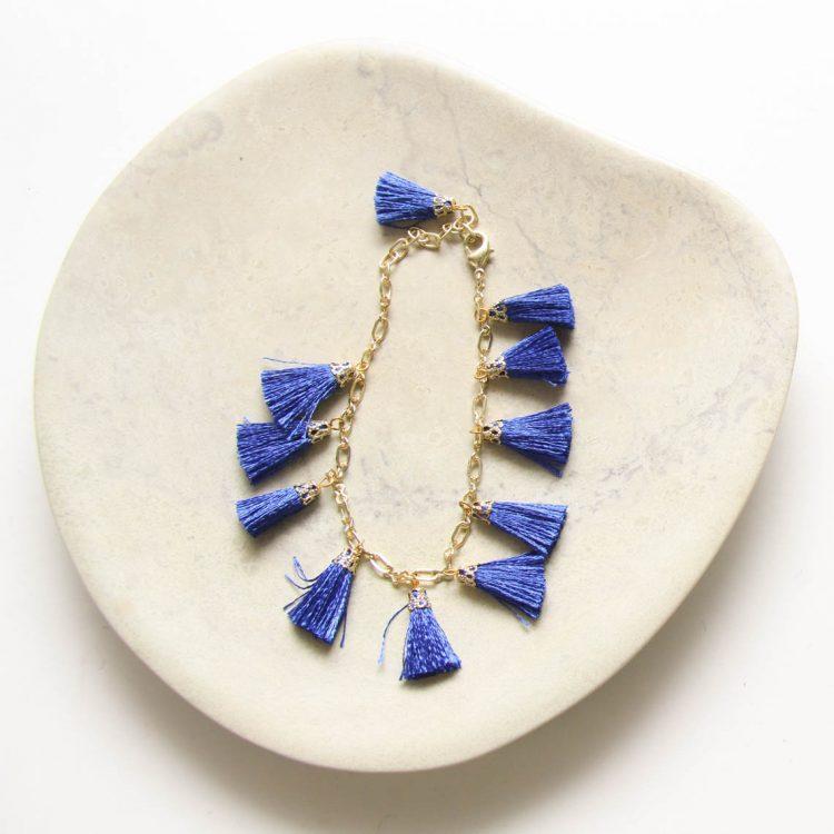 Blue tassel bracelet | Gallery 1 | TradeAid