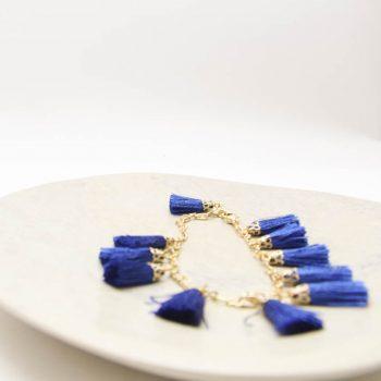 Blue tassel bracelet | Gallery 2 | TradeAid