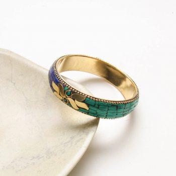 Green and blue mosaic bangle | Gallery 1 | TradeAid