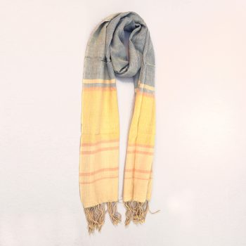 Ocean toned organic cotton scarf | TradeAid