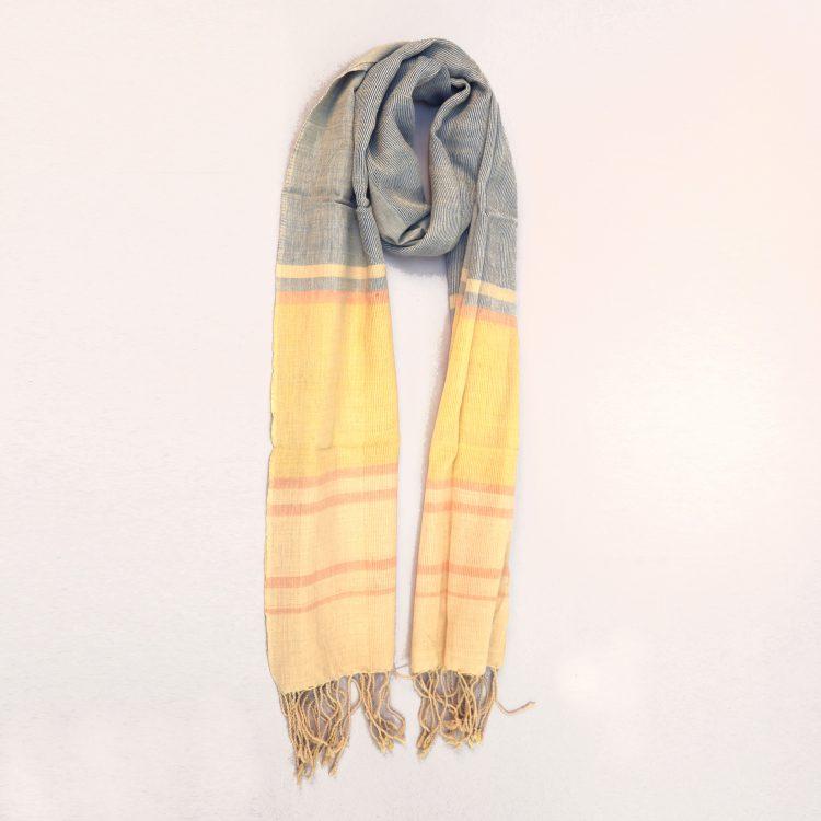 Ocean toned organic cotton scarf | TradeAid