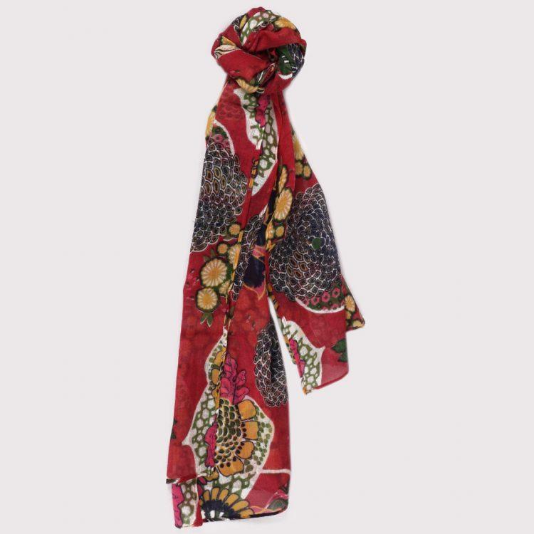 Floral wool scarf   TradeAid