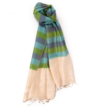 Gem tone silk and wool scarf | TradeAid