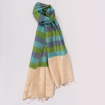 Gem tone silk and wool scarf | TradeAid