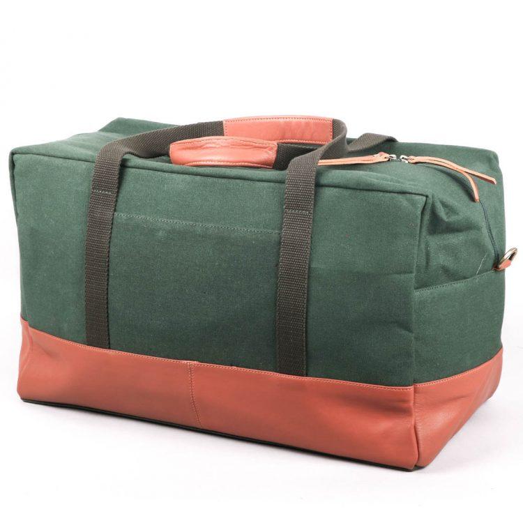 Green and tan duffel bag | TradeAid