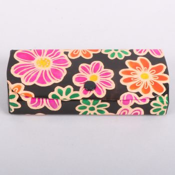 Floral leather glasses case | TradeAid