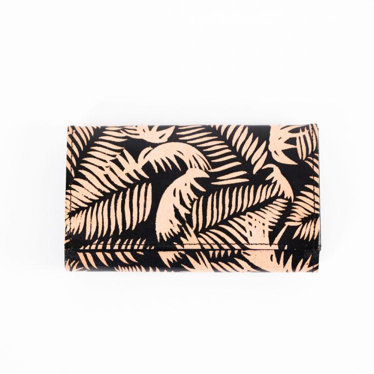 Black fern leather wallet | TradeAid