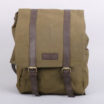 Olive green canvas back pack | TradeAid