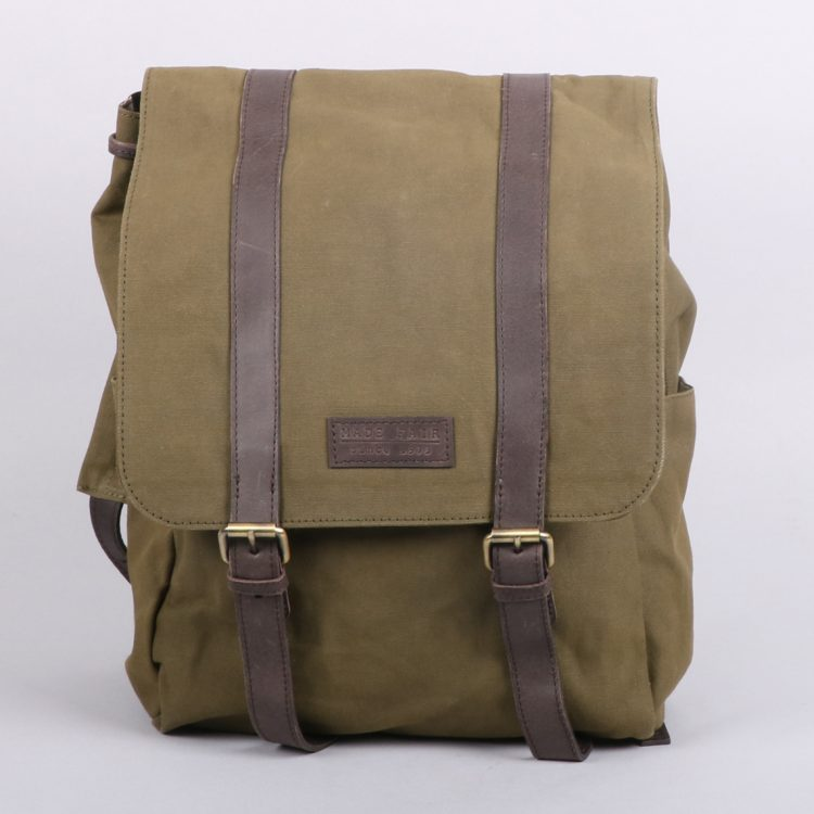 Olive green canvas backpack | TradeAid