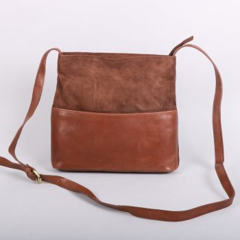 Brown suede and leather day bag | TradeAid
