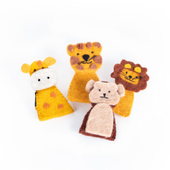 Jungle animal finger puppets | TradeAid