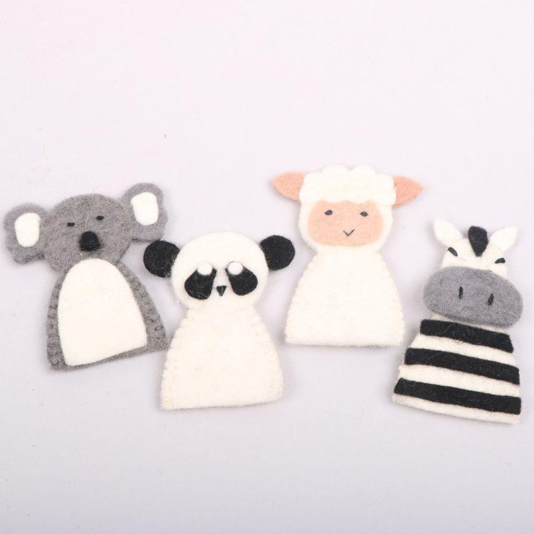 Felt animal finger puppets | TradeAid