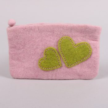 Felt purse with heart detail | TradeAid