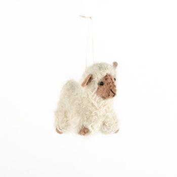 Cream felt sheep decoration | TradeAid