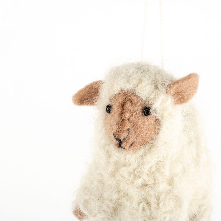 Cream felt sheep decoration | Gallery 1 | TradeAid