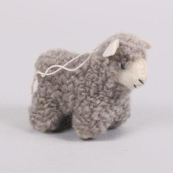 Grey felt sheep decoration | TradeAid