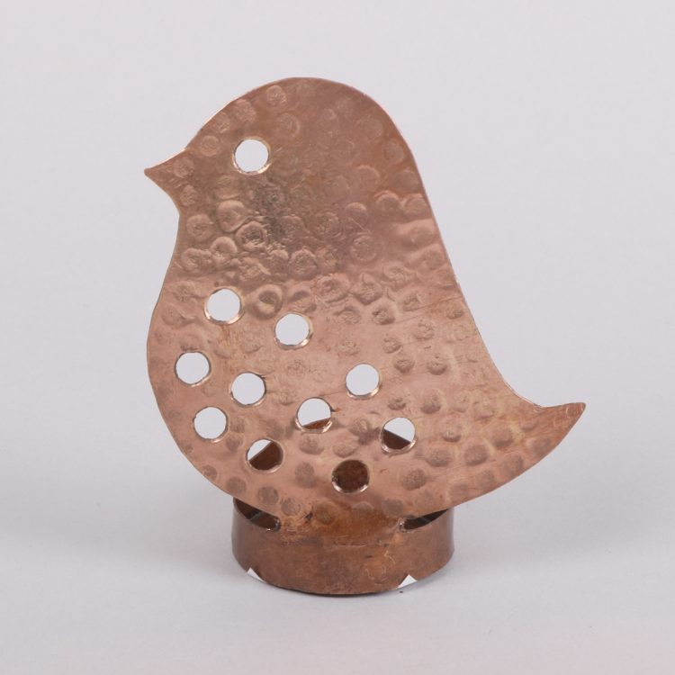 Copper bird tealight holder | TradeAid