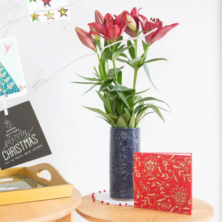Blue floral vase | TradeAid