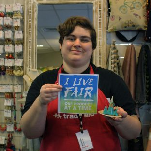 """""""I believe that everyone should be able to earn a living wage, and I know that supporting Trade Aid will support that goal."""" – Ethan J"""