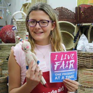 """""""I like Trade Aid because of what this movement represents: equality. I especially like purchasing these crocheted toy products because of the women living in third world countries, who make them. By buying these products I help them to earn more money."""" – Nina H"""