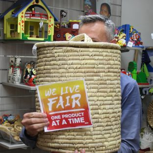 """""""It is wonderful to know that by buying fair trade products, you can have a direct influence on the lives of the people that make them."""" – Alan #LiveFair #OneProductAtATime #FairTradeDay"""