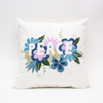 Peace embroidered cushion cover | TradeAid