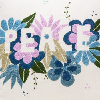 Peace embroidered cushion cover | Gallery 1 | TradeAid