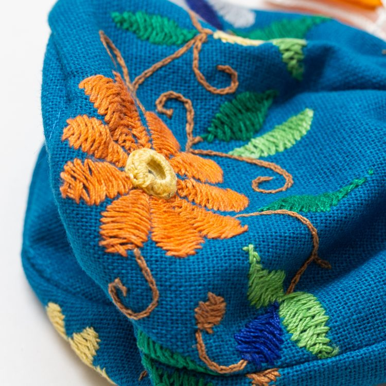 Blue floral jewellery pouch | Gallery 2 | TradeAid