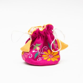 Magenta floral jewellery pouch | TradeAid