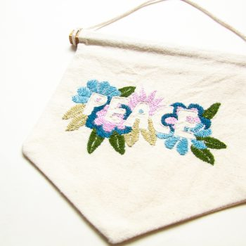 Embroidered peace wall hanging | Gallery 1 | TradeAid