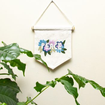 Embroidered peace wall hanging | Gallery 2 | TradeAid