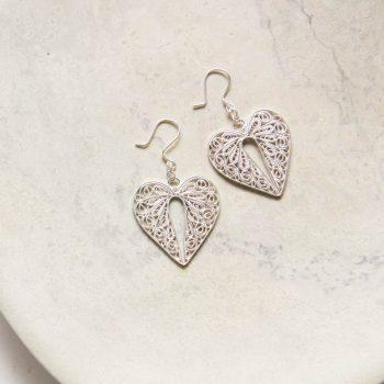 Filigree heart earrings   TradeAid