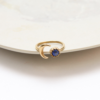 Moon and stone ring | TradeAid