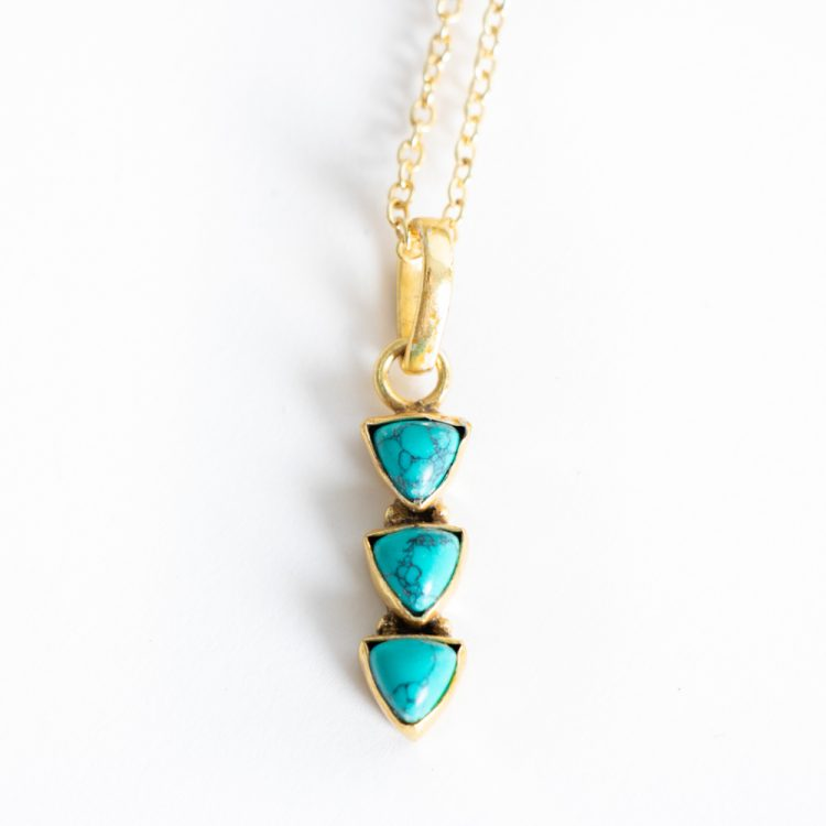 Triple stone necklace | TradeAid