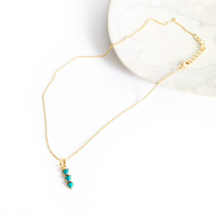 Triple stone necklace | Gallery 1 | TradeAid