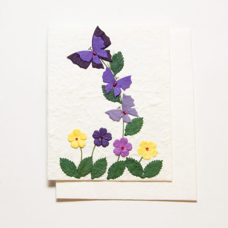 Butterfly and flower card | TradeAid