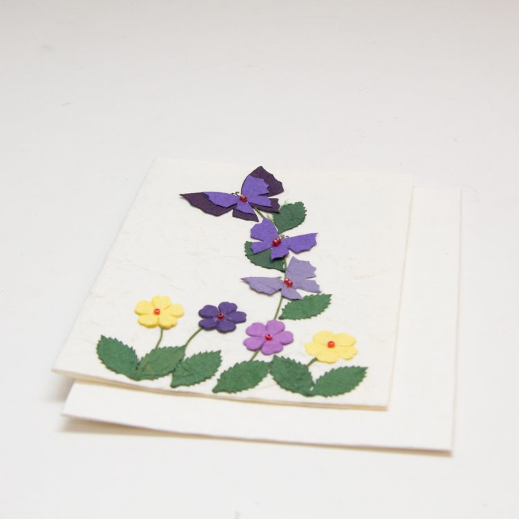 Butterfly and flower card | Gallery 1 | TradeAid