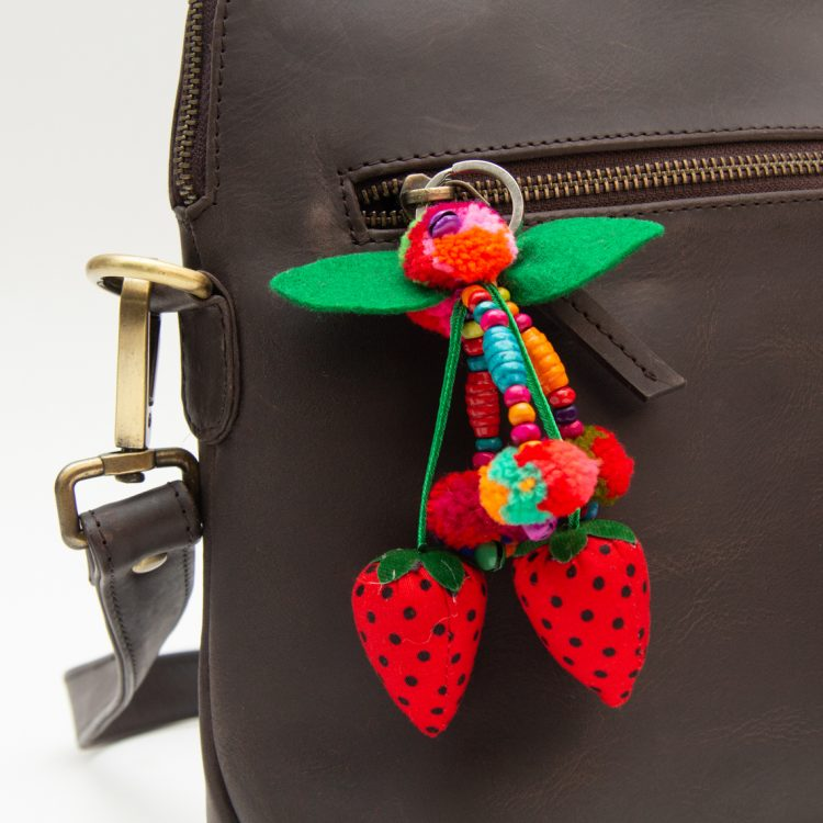 Strawberry pompom keyring | Gallery 1 | TradeAid