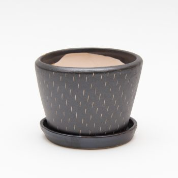 Pewter ceramic planter with saucer | Gallery 2 | TradeAid