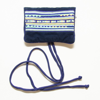 Velvet & cotton jewellery roll | TradeAid