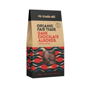 55% dark chocolate coated almonds – 130g | TradeAid