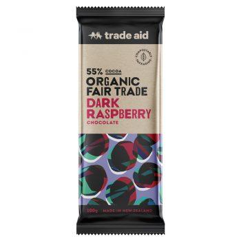 Organic 55% dark raspberry chocolate – 100g | TradeAid