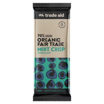 Organic 70% mint crisp chocolate – 100g | TradeAid