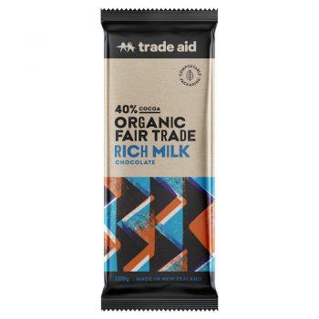 Organic 40% rich milk chocolate – 100g | TradeAid